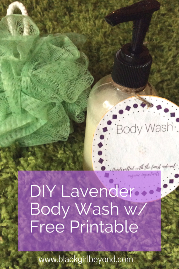 Natural Body Wash with Free Printable Labels