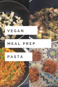 Vegan Meal Prep- Pasta Marinara w/ Mushrooms