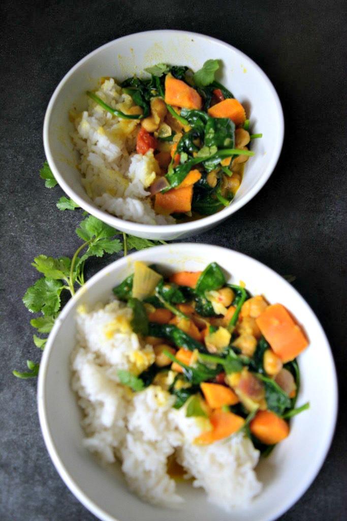 Vegan Meal Prep: Sweet Potato Curry
