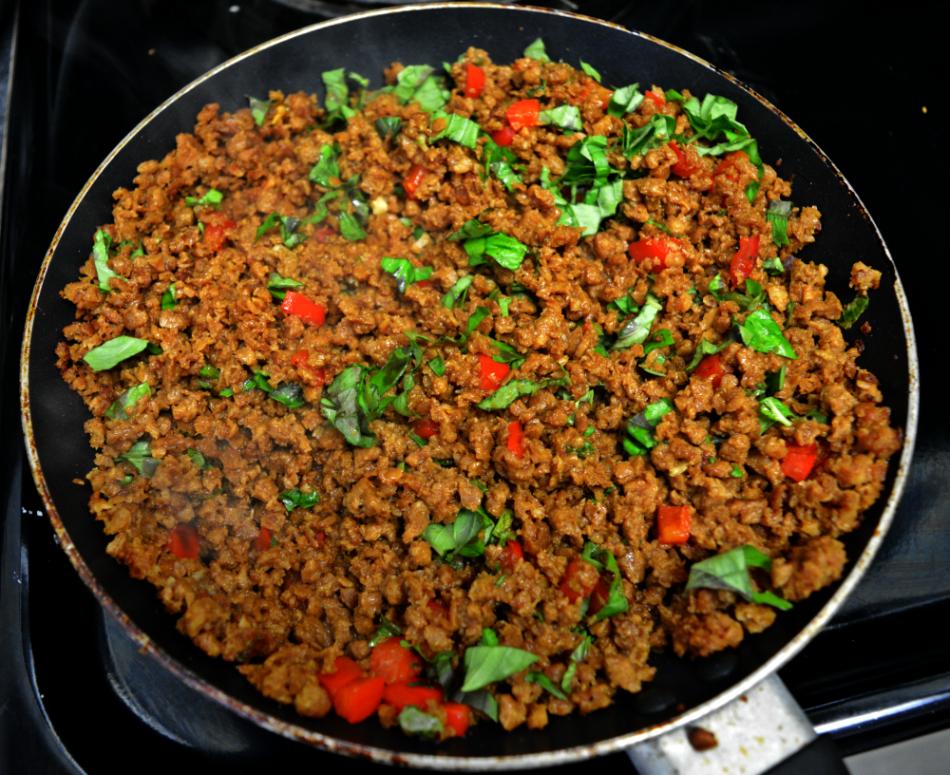 Vegan Thai Basil Beef