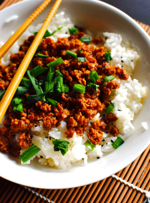 Vegan Korean Beef Rice Bowl
