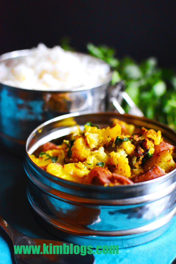 Aloo Gobi – Cauliflower and Potatoes